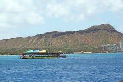 Barca turistica di lezioni di immersione subacquea Fotografia Stock
