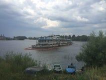 Barca turistica naufragata Bulgaria Immagine Stock