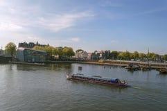 Barca turistica tipica di giro del canale fotografia stock