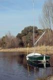 Barca in un lago Immagine Stock Libera da Diritti