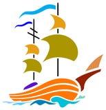Barca a vela illustrazione vettoriale