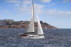 Barca a vela in Alicante Immagini Stock Libere da Diritti