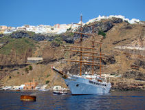 Barca a vela ancorata Fotografia Stock