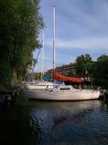 Barca a vela bianca Immagini Stock Libere da Diritti