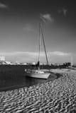 Barca a vela in in bianco e nero immagini stock libere da diritti