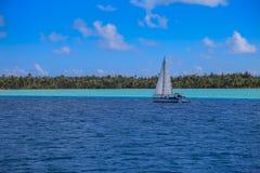 Barca a vela in Bora Bora Fotografia Stock