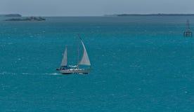 Barca a vela caraibica Immagini Stock