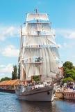 Barca a vela d'annata classica immagine stock libera da diritti