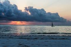 Barca a vela del Dhow fotografie stock