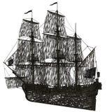 Barca a vela del fantasma illustrazione di stock