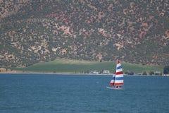 Barca a vela del lago bear Fotografia Stock