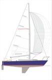 Barca a vela della classe 24 Fotografie Stock Libere da Diritti