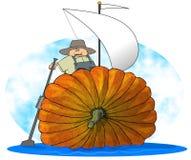Barca a vela della zucca Fotografia Stock