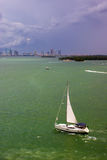 Barca a vela di Biscayne immagine stock libera da diritti