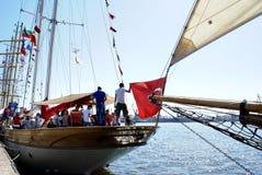 Barca a vela di Bodrum sul Mar Nero Fotografia Stock
