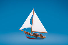 Barca a vela di legno Immagine Stock Libera da Diritti