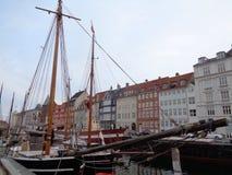 Barca a vela di Nyhavn Fotografia Stock