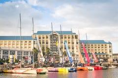 Barca a vela di Tegatta una corsa dell'oceano di Volvo a Cape Town Fotografie Stock