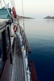 Barca a vela e mare Immagine Stock Libera da Diritti