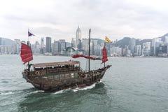 Barca a vela in Hong Kong Fotografie Stock