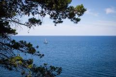 Barca a vela - immagine di riserva Immagini Stock Libere da Diritti