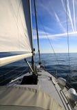 Barca a vela interna Immagini Stock