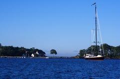 Barca a vela in Maine Fotografie Stock