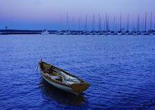 Barca a vela nel porticciolo Immagine Stock