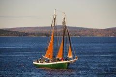 Barca a vela nel porto di Antivari, U.S.A., 2015 Immagine Stock