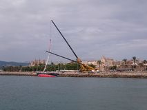 barca a vela in Palma de Mallorca fotografie stock libere da diritti