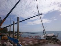 barca a vela in Palma de Mallorca immagini stock