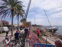 barca a vela in Palma de Mallorca fotografia stock
