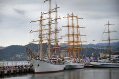 Barca a vela in porto Immagine Stock
