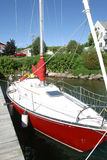 Barca a vela rossa anche Fotografia Stock Libera da Diritti