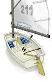 Barca a vela sporca Fotografia Stock