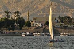 Barca a vela sul Nilo Fotografia Stock