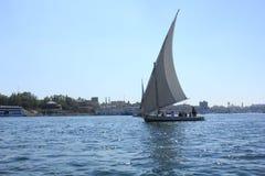 Barca a vela sul Nilo Fotografie Stock