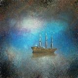 Barca a vela surreale Fotografia Stock