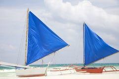 Barca a vela tradizionale su Boracay Fotografie Stock