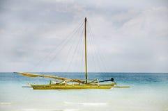 Barca a vela tradizionale su Boracay Fotografia Stock