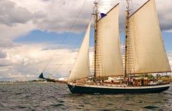 Barca a vela Two-masted Fotografie Stock Libere da Diritti