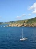 Barca a vela vicino a St Thomas USVI fotografie stock libere da diritti