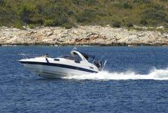 Barca veloce Fotografie Stock Libere da Diritti