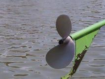 Barca verde del longtail dell'elica Fotografia Stock