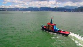 Barca in Victoria Harbor Fotografie Stock Libere da Diritti