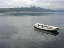 Barca vuota sola fotografia stock libera da diritti