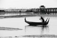 Barcaiolo birmano Fotografie Stock