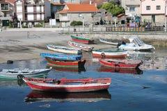 Barcas Combarro royalty free stock photo