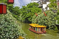 Barcas en Nanjing Fotos de archivo libres de regalías