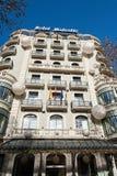 Barcellona,庄严的旅馆 库存照片